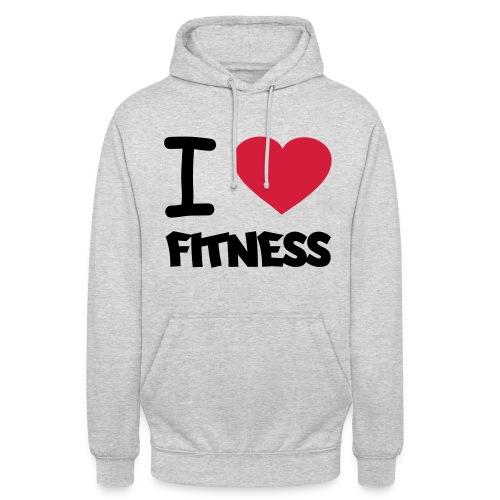 Love Fitness Hoodie - Grau - Unisex Hoodie
