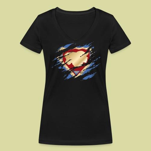 MégaStaff Femme - T-shirt bio col V Stanley & Stella Femme