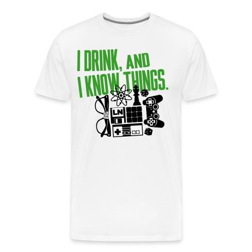 I Know Things Combo T-Shirt - Maglietta Premium da uomo