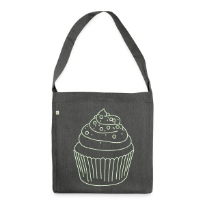 Cupcake - Schultertasche aus Recycling-Material