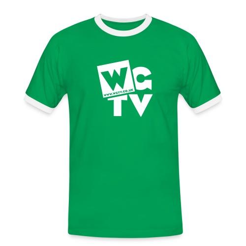 Men's Ringer Shirt with Logo - Men's Ringer Shirt