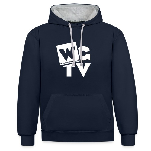 Contrast Colour Hoodie with Logo - Contrast Colour Hoodie
