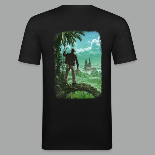 Abenteuer in Köln, beidseitig, Grunge - Männer Slim Fit T-Shirt