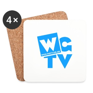 Coasters (set of 4) with Blue Logo - Coasters (set of 4)
