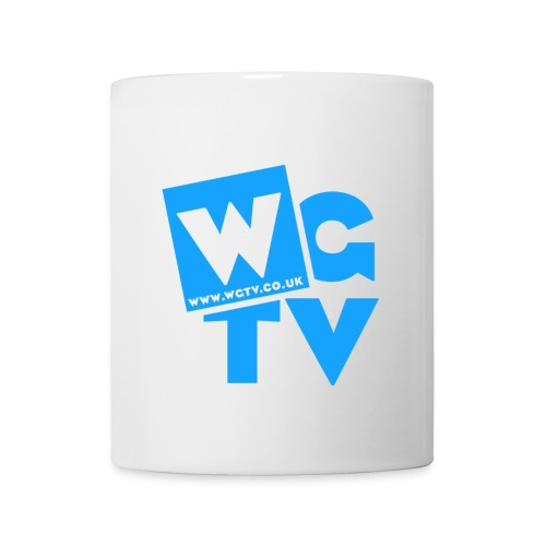 White Mug with Blue Logo - Mug