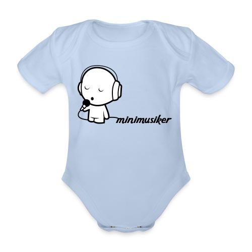Minimusiker Body kurz - Baby Bio-Kurzarm-Body
