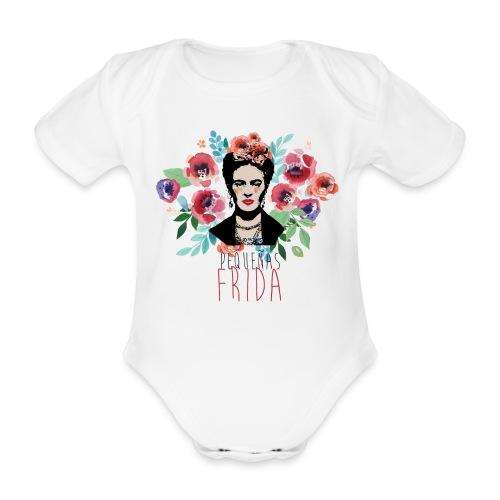 Pequeñas Frida - Stampa FRONTE E RETRO - Body ecologico per neonato a manica corta
