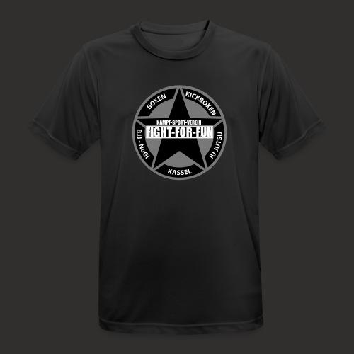 Funktionsshirt - Logo Brust schwarz / grau   - Männer T-Shirt atmungsaktiv