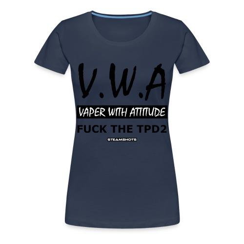 V.W.A - Vaper with Attitude - Frauen Premium T-Shirt
