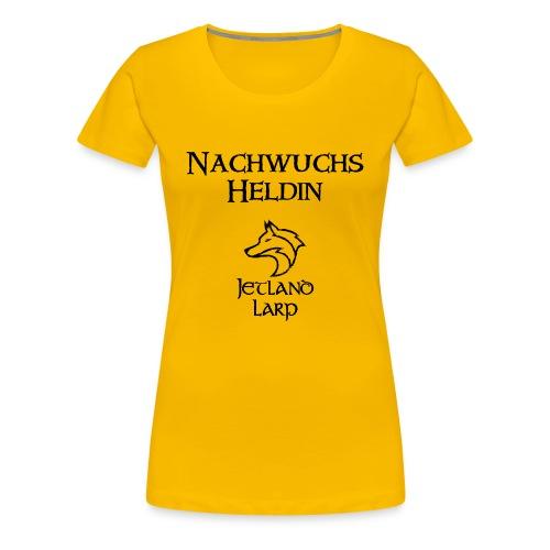 Nachwuchsheldin (dark print) - Frauen Premium T-Shirt