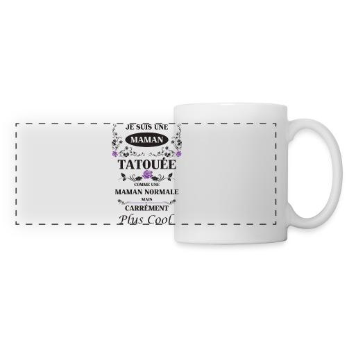 Tasse maman tatouée - Mug panoramique contrasté et blanc