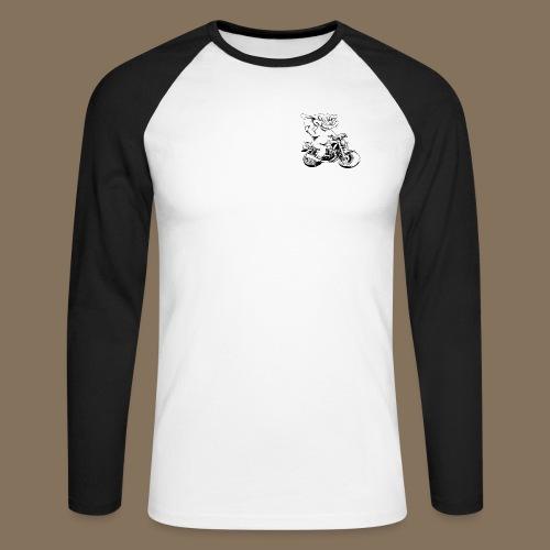Tee shirt baseball noir manches longues Homme - T-shirt baseball manches longues Homme