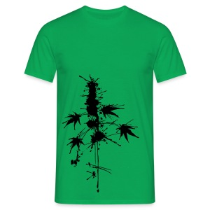 Ein Klecks Cannabis (ecke) - male - Men's T-Shirt