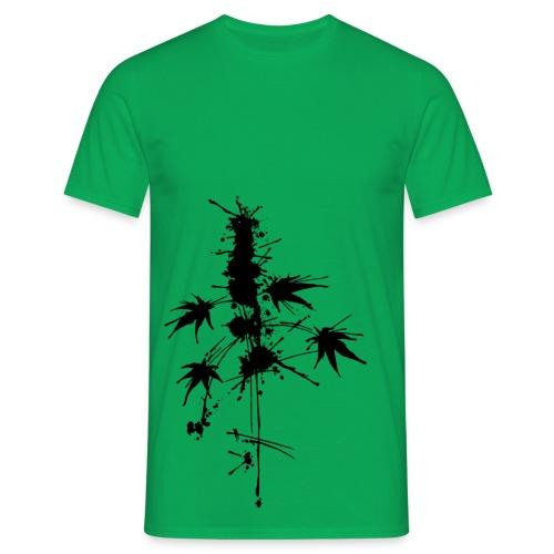 Ein Klecks Cannabis (ecke) - male - Men's T-Shirt