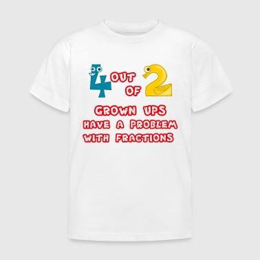 Fractions Problem  - Kids' T-Shirt