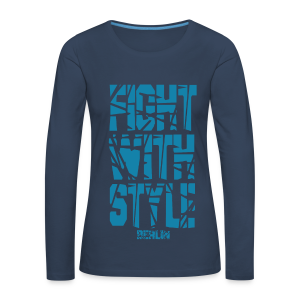 Fightwithstyle Berlin Block Langarm Lady Shirt - Frauen Premium Langarmshirt