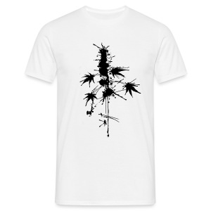 Ein Klecks Cannabis (mittig) - male - Men's T-Shirt