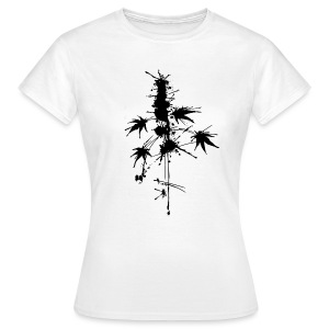 Ein Klecks Cannabis (mittig) - female - Women's T-Shirt