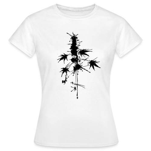 Ein Klecks Cannabis (mittig) - female - Women's T-Shirt