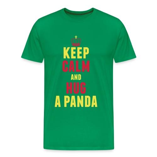 Keep Calm and Hug a Panda - Männer Premium T-Shirt