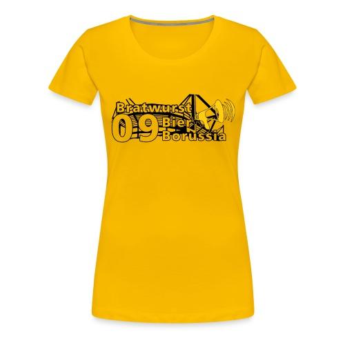 Bratwurst Bier Borussia Frauen Shirt - Frauen Premium T-Shirt