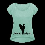 T-Shirts ~ Frauen T-Shirt mit gerollten Ärmeln ~ surfgirl