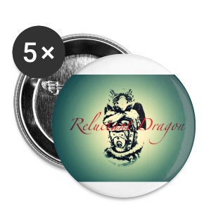 Reluctant Dragon Badge Pack (x5) - Buttons small 25 mm