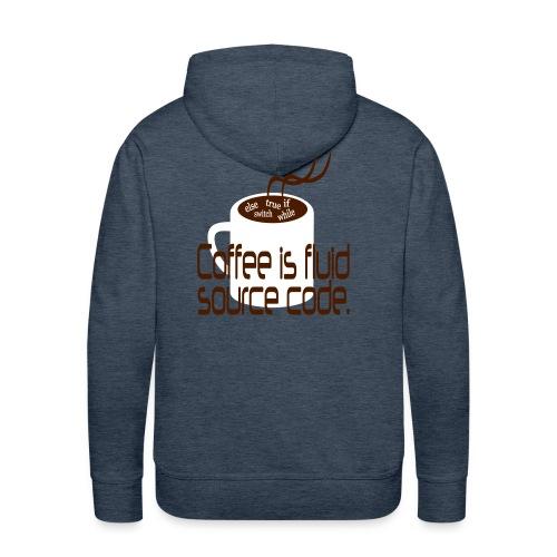 Coffee is source code Männer Hoodie - Männer Premium Hoodie