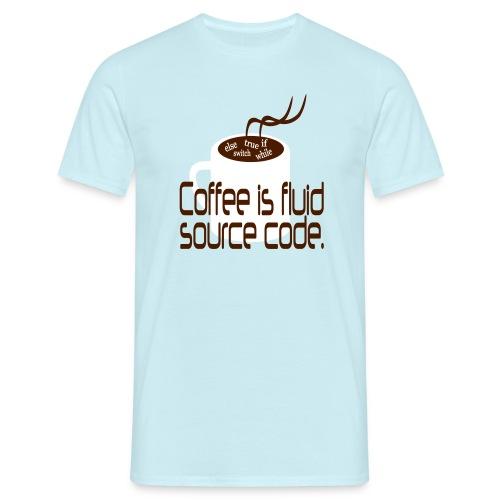 Coffee is source code Männer T-Shirt - Männer T-Shirt