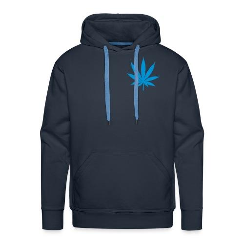 Sweat capuche (bleu) motif canna - Sweat-shirt à capuche Premium pour hommes