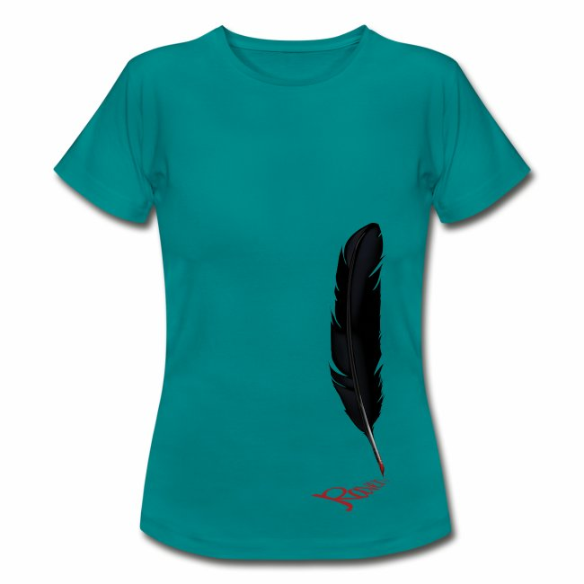 Raven Feather Ladies T-Shirt