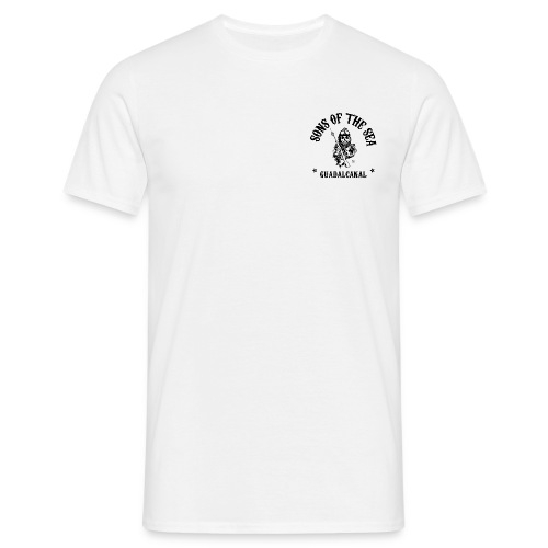 men's T-Shirt #1 - Sons of the Sea - GUADALCANAL - WHITE - Men's T-Shirt