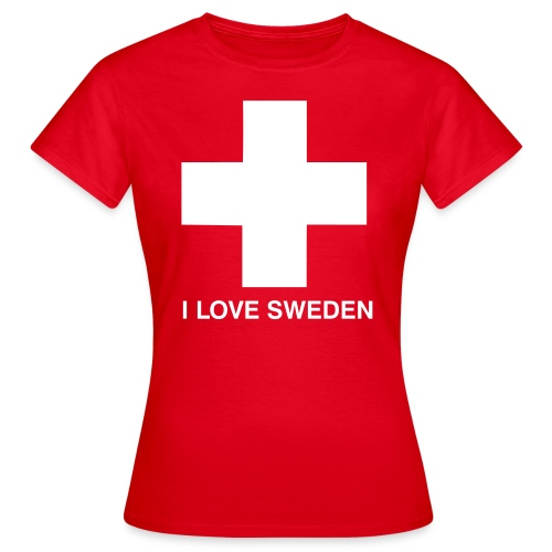 I Love Sweden - Frauen T-Shirt