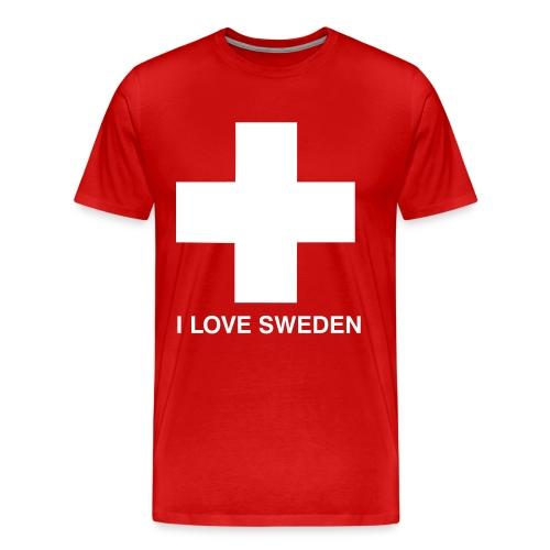 I Love Sweden - Männer Premium T-Shirt