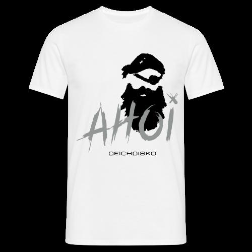 Deichdisko T-Shirt Ahoi Pirat! mit Flockdruck - Männer T-Shirt