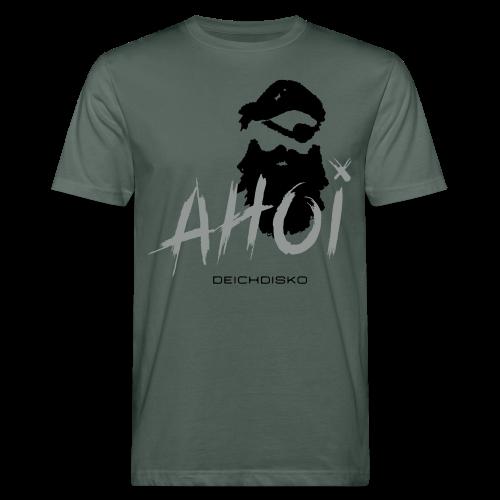 Deichdisko T-Shirt Ahoi Pirat! mit Flockdruck - Männer Bio-T-Shirt