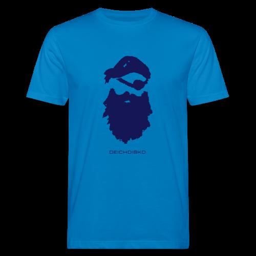 Deichdisko T-Shirt Pirat mit Flockdruck - Männer Bio-T-Shirt