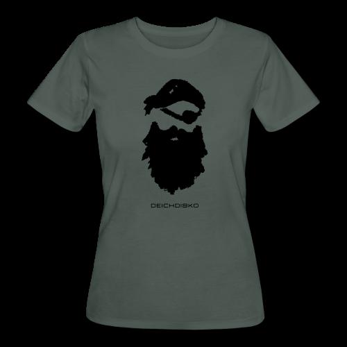 Deichdisko T-Shirt Pirat mit Flockdruck - Frauen Bio-T-Shirt