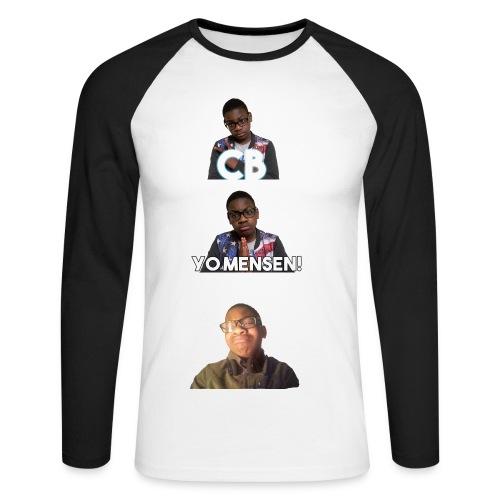 Lange Mouw  - Men's Long Sleeve Baseball T-Shirt