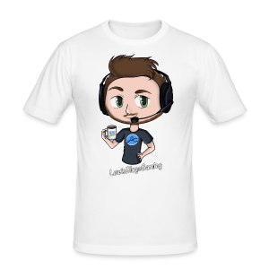 Men's Slim Fit T-Shirt: LewisBlogsGaming - Men's Slim Fit T-Shirt