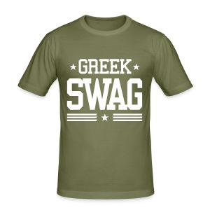 Greek Swag - Männer Slim Fit T-Shirt