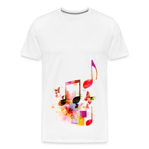 Noten T-shirt - M - Mannen Premium T-shirt