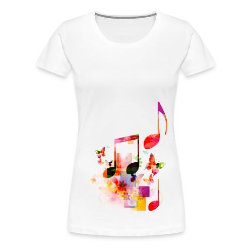 Noten T-shirt - V - Vrouwen Premium T-shirt