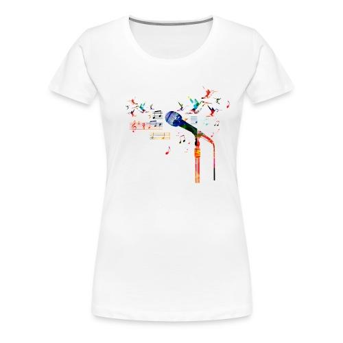 Microfoon T-shirt - V - Vrouwen Premium T-shirt