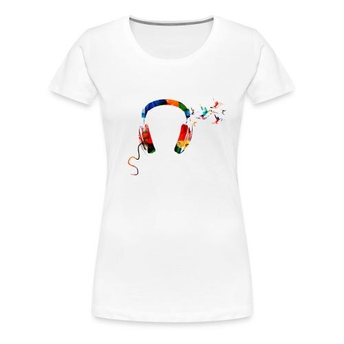 Mijn Koptelefoon editie - V - Vrouwen Premium T-shirt