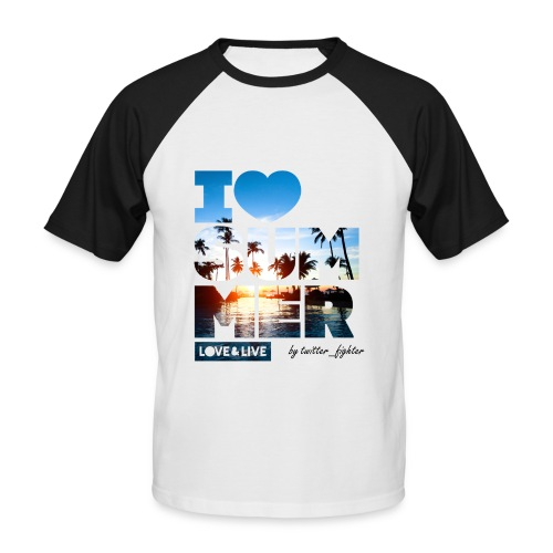 I LOVE SUMMER FOR YOU - Männer Baseball-T-Shirt