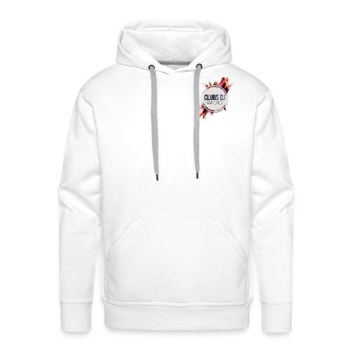 SWEAT-SHIRT A CAPUCHE PREMIUM BLANC HOMMES - Sweat-shirt à capuche Premium pour hommes