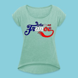 Women's T-shirt  Appelez-moi France (Call me France) - Women's T-shirt with rolled up sleeves