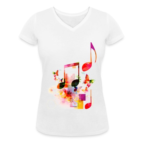 Noten T-shirt - V - V-hals - Vrouwen bio T-shirt met V-hals van Stanley & Stella