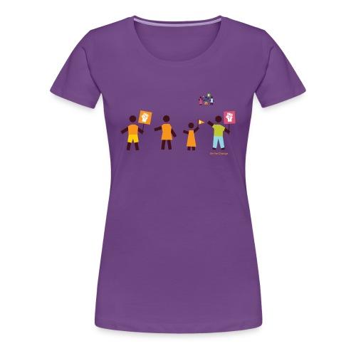 Be the Change (f) - Frauen Premium T-Shirt